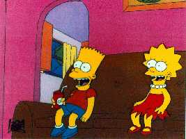 [Bart & Lisa Simpson]